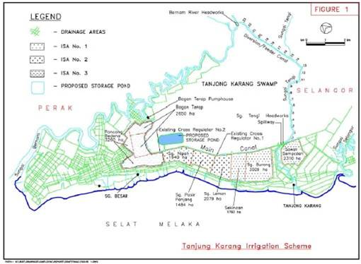 plan kolam takungan map