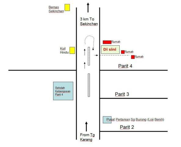 Padi SRI Selangor : Pelan Ke Padi SRI Parit 4, Sg Burong