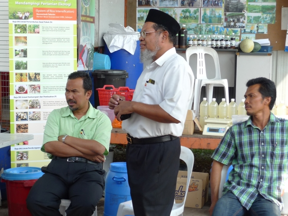 Padi SRI Selangor : Ucapan YB EXCO Pertanian Selangor di PPL SRI, Pt 9, Sg Leman