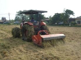 Traktor Menarik Peralatan Menghancurkan Jerami (Flail Mower)