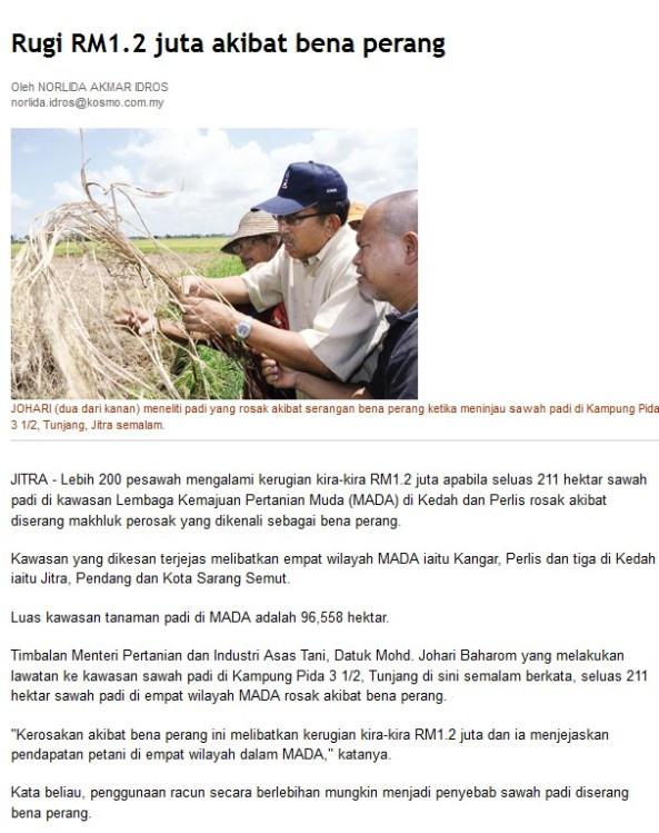 Serangan Bena Perang di Kedah/Perlis Jan 2013