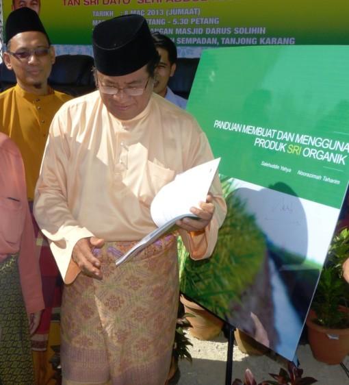 Pelancaran Buku SRI oleh YAB Tan Sri Khalid Ibrahim