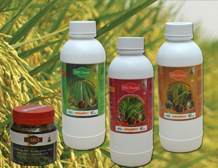 Label Botol Produk SRI Organik